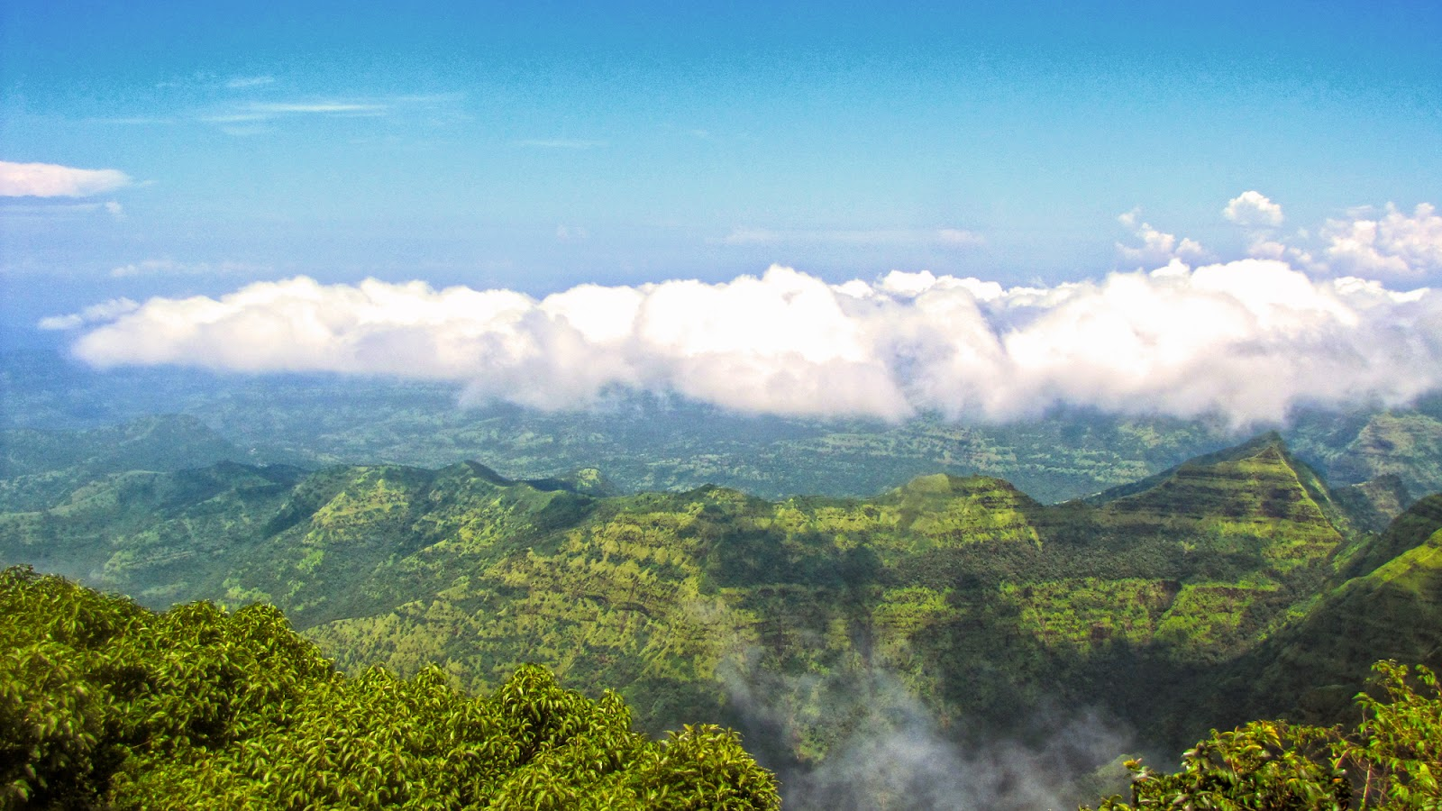 Western Ghats. A panoramic view.
